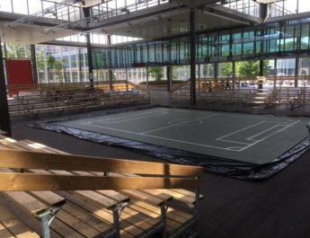 Mini stadium built for TU/e robots fan day