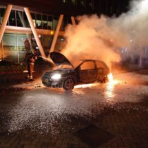 Car burnt out in Limburglaan