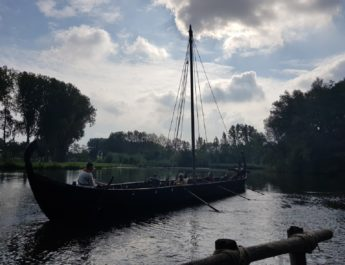 Redbad Viking boat makes first trip in Eindhoven