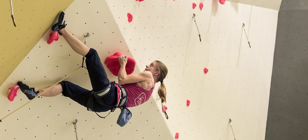 Local climbers at National climbing championships